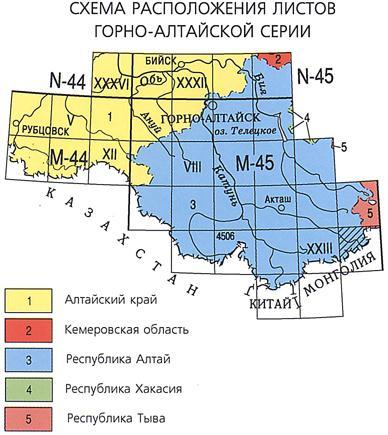 Схема горно-алтайская