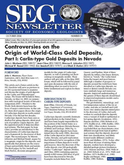 types of gold deposits pdf