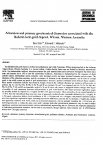 Alteration and primary geochemical dispersion associated with the Bulletin lode-gold deposit, Wiluna, Western Australia