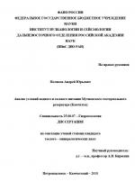 Анализ условий водного и газового питания Мутновского геотермального резервуара (Камчатка)