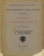 Annales geologiques du service des mines. Recherches sur les faunes albiennes de Madagascar