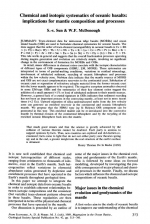 Chemical and isotopic systematics of oceanic basalts: implications for mantle composition and processes / Химическая и изотопная систематика океанических базальтов: влияние на состав мантии и мантийные процессы