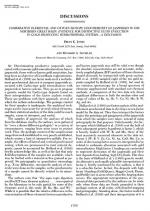 Comparative elemental and oxygen isotope geochemistry of jasperoid in the northern great basin: evidence for distinctive fluide evolution in gold-producting hydrothermal system - a discussion