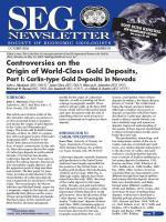 Controversies on the Origin of World-Class Gold Deposits, Part I: Carlin-type Gold Deposits in Nevada