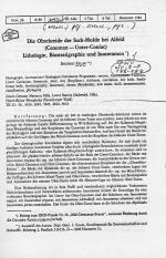Die Oberkreide der Sack-Mulde bei Alfred (Cenoman-Unter-Coniac). Lithotologie, biostratigraphie und Inoceramen
