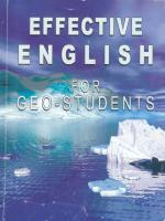 Effective english for geo-students / Эффективный курс английского языка для студентов-геологов