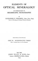 Elements of optical mineralogy. An introduction to microscopic petrography. Part III. Determinative tables