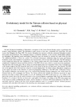 Evolutionary model for the Taiwan collision based on physical modelling