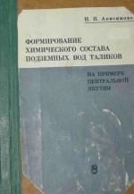 Формирование химического состава подземных вод таликов на примере Центральной Якутии