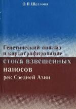 Генетический анализ и картографирование стока взвешенных наносов рек Средней Азии