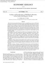 Geology and geochemistry of wall-rock alteration at the Carlin gold deposit, Nevada