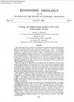 Geology and stable isotope studies of the Carlin gold deposit, Nevada