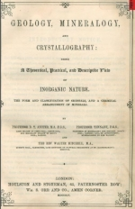 Geology, mineralogy and crystallography: Being a theoretical, practical an descriptibe item of inorganic nature. The form and classificatin of crystals, and a chemical arrangement of minerals / Геология, минералогия и кристаллография