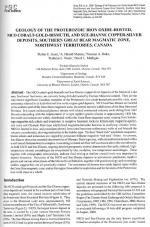 Geology of the proterozoic iron oxide-hosted, Nico cobalt-gold-bismuth, and Sue-Dianne copper-silver deposits, southern great bear magmatic zone, northwest territories, Canada