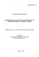 Гидродинамика двухфазных смесей в процессах бурения нефтяных и газовых скважин
