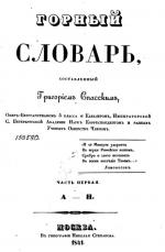 Горный словарь. Часть 1. А-Н