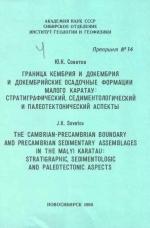 Граница кембрия и докембрия и докембрийские осадочные формации Малого Каратау: стратиграфический, седиментологический и палеотектонический аспекты