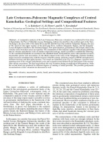 Late cretaceous–paleocene magmatic complexes of Central Kamchatka: geological settings and compositional features
