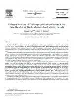 Lithogeochemistry of Carlin-type gold mineralization in the Gold Bar district, Battle Mountain-Eureka trend, Nevada