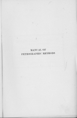 Manual of petrographic methods