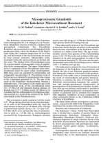 Mesoproterozoic Granitoids of the Kokchetav Microcontinent Basement