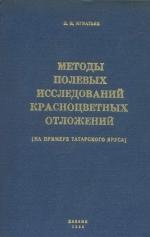 Методы полевых исследований красноцветных отложений (на примере татарского яруса)