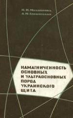 Намагниченность основных и ультраосновных пород Украинского щита