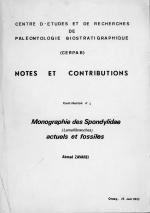 Notes et contributions. Monographie des Spondylidae (Lamellibranches) actuales et fossilies