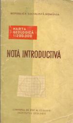 Объяснительная записка к листам геологических карт масштаба 1:200000 республики Румыния (Nota introductiva)