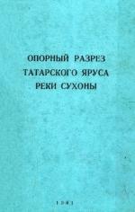 Опорный разрез татарского яруса реки Сухоны