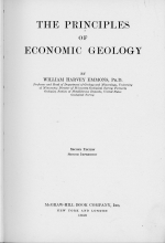 The principles of economic geology