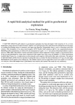 A rapid field analytical method for gold in geochemical exploration