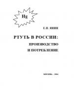 Ртуть в России: производство и потребление