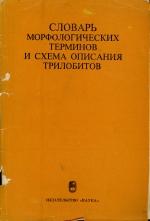 Словарь морфологических терминов и схема описания трилобитов