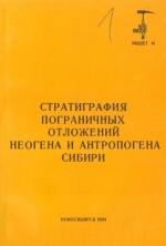 Стратиграфия пограничных отложений неогена и антропогена Сибири. Сборник научных трудов