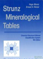 Strunz mineralogical tables. Chemical structural mineral