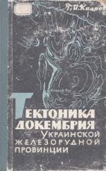 Тектоника докембрия Украинской железорудной провинции