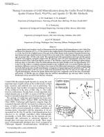 Timing Constraints of Gold Mineralization along the Carlin Trend Utilizing Apatite Fission-Track, 40Ar/39Ar, and Apatite (U-Th)/He Methods