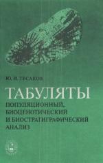Труды института геологии и геофизики. Выпуск 409. Популяционный, биоценотический и биостратиграфический анализ