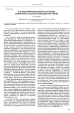 Условия образования рифей-палеозойских вулканогенно-осадочных формаций Горного Алтая