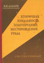 Вторичная зональность золоторудных месторождений Урала