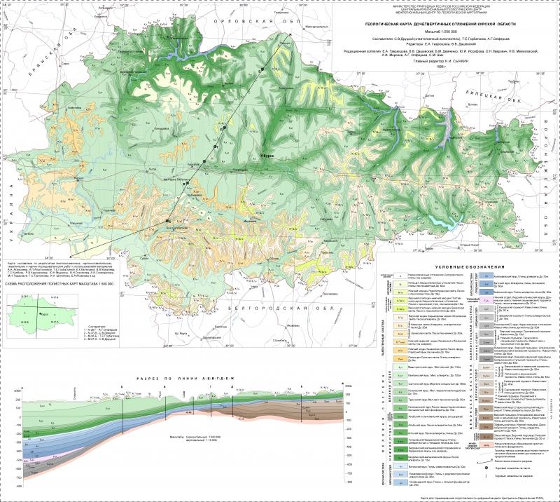 Карта Водоносные Горизонты Киевской Области