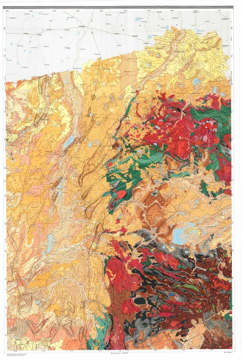 Геологическая карта Казахстана | Геологический портал GeoKniga: http://www.geokniga.org/maps/3761