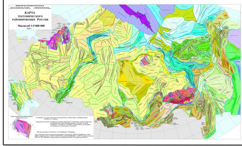 Карта тектонического