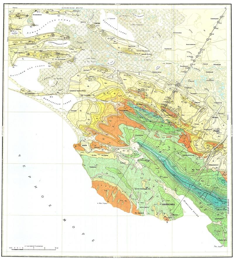 геологическая карта СССР.