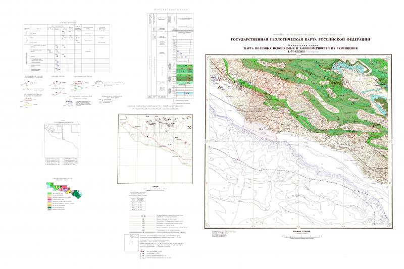 Карта полезных ископаемых.