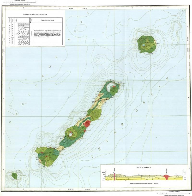 геологическая карта о кунашир