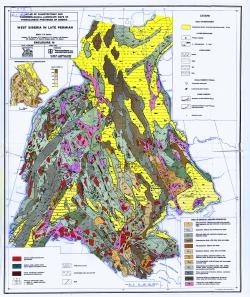 Atlas of paleotectonic and paleogeological-landscape maps of hydrocarbon provinces of siberia / Атлас палеотектонических и палеогеологических карт Западно-Сибирской нефтегазоносной провинции (Лист 1 - поздняя Пермь)