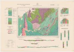 Cedeira. 7/6-3. Mapa geologico de Espana
