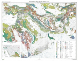 Geological map of the Middle East
